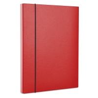 Elasticated File Box DONAU, PP, A4/30, red
