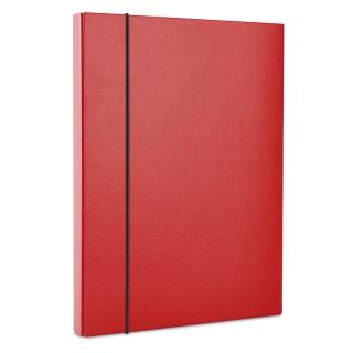 Teczka-pudełko z gumką DONAU, PP, A4/30, czerwona, Teczki przestrzenne, Archiwizacja dokumentów