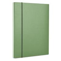 Teczka-pudełko z gumką DONAU, PP, A4/30, zielona, Teczki przestrzenne, Archiwizacja dokumentów