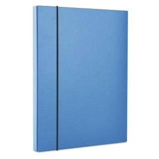 Teczka-pudełko z gumką DONAU, PP, A4/30, niebieska, Teczki przestrzenne, Archiwizacja dokumentów