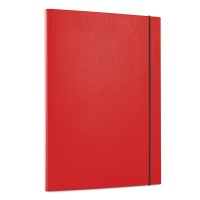 Elasticated File PP A4/15 3 flaps red