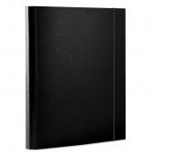 Teczka z gumką DONAU, PP, A4/30, 3-skrz., czarna, Teczki przestrzenne, Archiwizacja dokumentów
