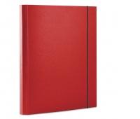 Teczka z gumką DONAU, PP, A4/30, 3-skrz., czerwona, Teczki przestrzenne, Archiwizacja dokumentów