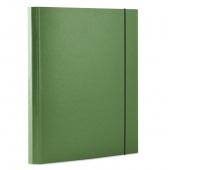 Teczka z gumką DONAU, PP, A4/30, 3-skrz., zielona, Teczki przestrzenne, Archiwizacja dokumentów