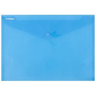 Teczka kopertowa DONAU zatrzask, PP, A4, 180mikr., niebieska, Teczki płaskie, Archiwizacja dokumentów
