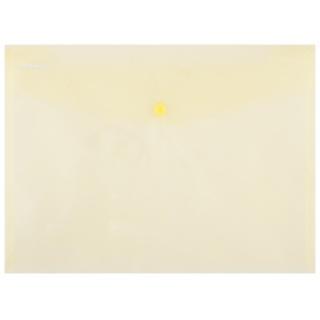 Teczka kopertowa DONAU zatrzask, PP, A4, 180mikr., żółta, Teczki płaskie, Archiwizacja dokumentów