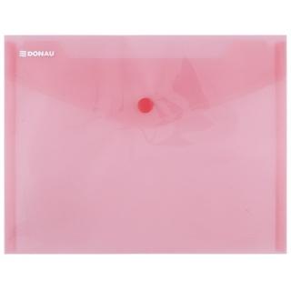 Teczka kopertowa DONAU zatrzask, PP, C5, 180mikr., czerwona, Teczki płaskie, Archiwizacja dokumentów