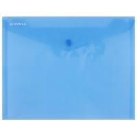 Teczka kopertowa DONAU zatrzask, PP, C5, 180mikr., niebieska