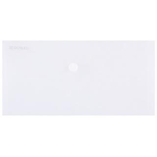 Teczka kopertowa DONAU zatrzask, PP, DL, 180mikr., transparentna, Teczki płaskie, Archiwizacja dokumentów