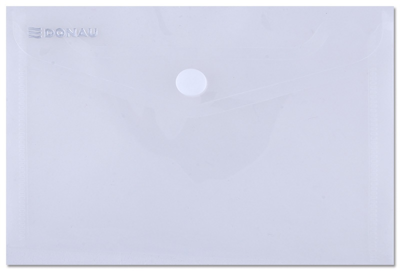Envelope Wallet DONAU press stud, PP, A6, 180 micron, clear