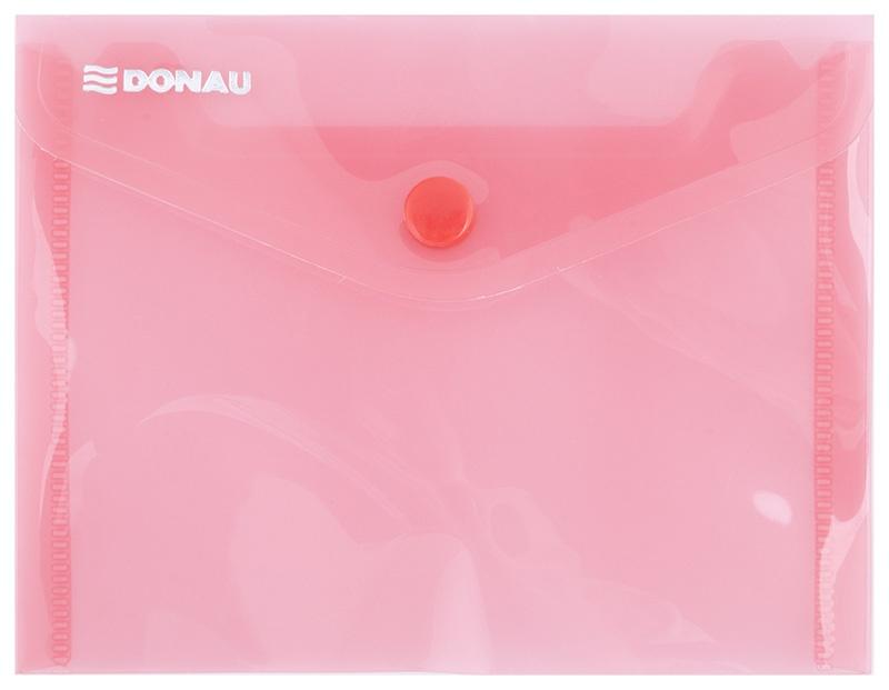 Teczka kopertowa DONAU zatrzask, PP, A6, 180mikr., czerwona, Teczki płaskie, Archiwizacja dokumentów