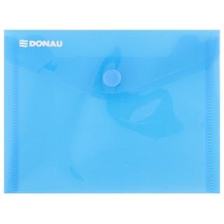 Teczka kopertowa DONAU zatrzask, PP, A6, 180mikr., niebieska, Teczki płaskie, Archiwizacja dokumentów