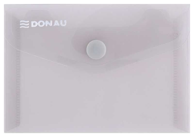 Envelope Wallet DONAU press stud, PP, A7, 180 micron, smoky