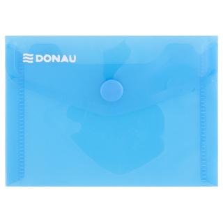 Teczka kopertowa DONAU zatrzask, PP, A7, 180mikr., niebieska, Teczki płaskie, Archiwizacja dokumentów