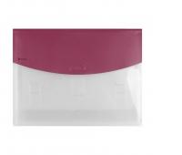 Teczka z rozsuwanymi kieszeniami DONAU, PP, A4, czerwona, Teczki płaskie, Archiwizacja dokumentów
