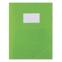 Teczka z gumką DONAU, PP, A4, 480mikr., 3-skrz., półtransparentna zielona, Teczki płaskie, Archiwizacja dokumentów