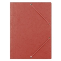 Elasticated File pressed board A4 390gsm 3 flaps red