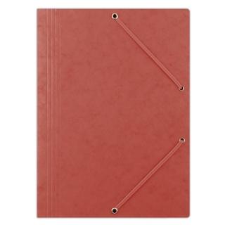 Teczka z gumką DONAU, preszpan, A4, 390gsm, 3-skrz., czerwona, Teczki płaskie, Archiwizacja dokumentów