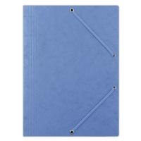Teczka z gumką DONAU, preszpan, A4, 390gsm, 3-skrz., niebieska