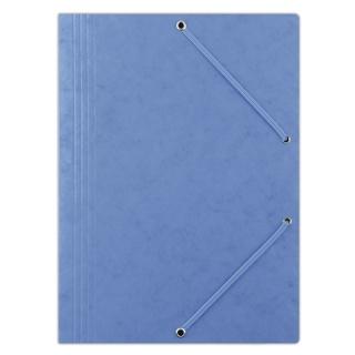 Teczka z gumką DONAU, preszpan, A4, 390gsm, 3-skrz., niebieska, Teczki płaskie, Archiwizacja dokumentów