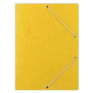 Teczka z gumką DONAU, preszpan, A4, 390gsm, 3-skrz., żółta, Teczki płaskie, Archiwizacja dokumentów