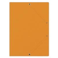 Teczka z gumką DONAU, preszpan, A4, 390gsm, 3-skrz., pomarańczowa