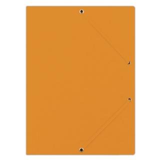 Teczka z gumką DONAU, preszpan, A4, 390gsm, 3-skrz., pomarańczowa, Teczki płaskie, Archiwizacja dokumentów