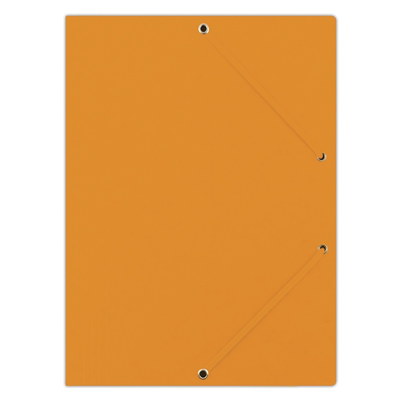 Elasticated File DONAU, pressed board, A4, 390gsm, 3 flaps, orange