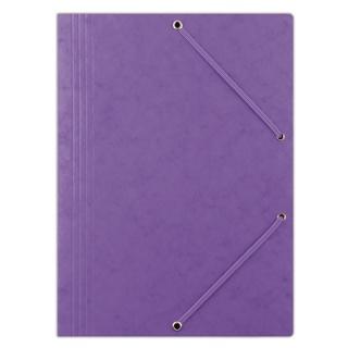 Teczka z gumką DONAU, preszpan, A4, 390gsm, 3-skrz., fioletowa, Teczki płaskie, Archiwizacja dokumentów