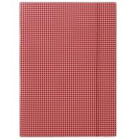 Teczka z gumką DONAU, karton, A4, 400gsm, 3-skrz., czerwona w kratę