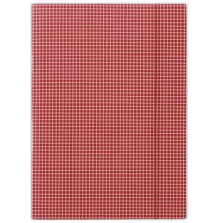 Teczka z gumką DONAU, karton, A4, 400gsm, 3-skrz., czerwona w kratę, Teczki płaskie, Archiwizacja dokumentów