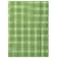 Teczka z gumką DONAU, karton, A4, 400gsm, 3-skrz., zielona w kratę