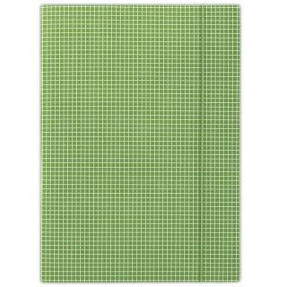 Teczka z gumką DONAU, karton, A4, 400gsm, 3-skrz., zielona w kratę, Teczki płaskie, Archiwizacja dokumentów