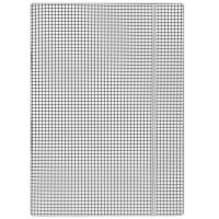 Teczka z gumką DONAU, karton, A4, 400gsm, 3-skrz., biała w kratę