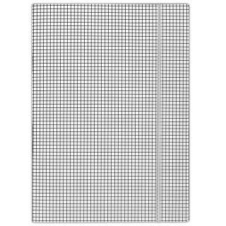 Teczka z gumką DONAU, karton, A4, 400gsm, 3-skrz., biała w kratę, Teczki płaskie, Archiwizacja dokumentów