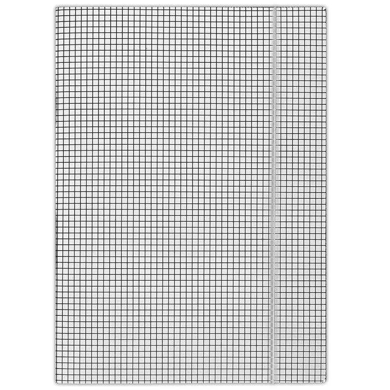 Elasticated File DONAU, cardboard, A4, 400gsm, 3 flaps, white, checked