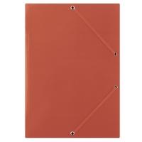 Teczka z gumką DONAU, karton, A4, 400gsm, 3-skrz., czerwona
