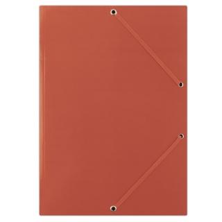 Teczka z gumką DONAU, karton, A4, 400gsm, 3-skrz., czerwona, Teczki płaskie, Archiwizacja dokumentów