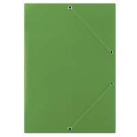 Elasticated File cardboard A4 400gsm 3 flaps green