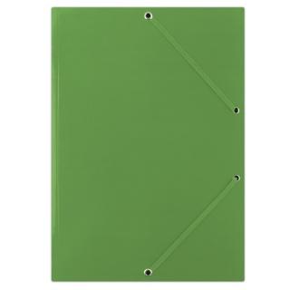 Teczka z gumką DONAU, karton, A4, 400gsm, 3-skrz., zielona, Teczki płaskie, Archiwizacja dokumentów
