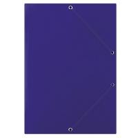 Teczka z gumką DONAU, karton, A4, 400gsm, 3-skrz., niebieska