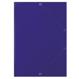 Teczka z gumką DONAU, karton, A4, 400gsm, 3-skrz., niebieska, Teczki płaskie, Archiwizacja dokumentów