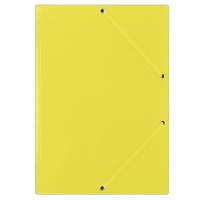 Teczka z gumką DONAU, karton, A4, 400gsm, 3-skrz., żółta