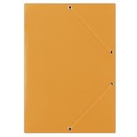 Teczka z gumką DONAU, karton, A4, 400gsm, 3-skrz., pomarańczowa