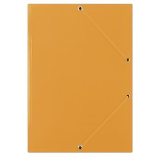 Teczka z gumką DONAU, karton, A4, 400gsm, 3-skrz., pomarańczowa, Teczki płaskie, Archiwizacja dokumentów