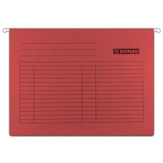 Teczka zawieszkowa DONAU, A4, 230gsm, czerwona, Teczki zawieszkowe, Archiwizacja dokumentów