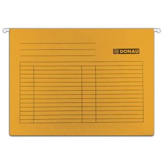 Teczka zawieszkowa DONAU, A4, 230gsm, pomarańczowa, Teczki zawieszkowe, Archiwizacja dokumentów