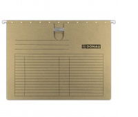 Suspension File DONAU with filling strip fastener, A4, 230gsm, brown