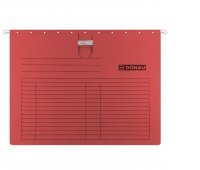 Suspension File DONAU with filling strip fastener, A4, 230gsm, red
