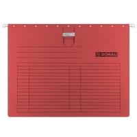 Teczka zawieszkowa DONAU z wąsem, A4, 230gsm, czerwona, Teczki zawieszkowe, Archiwizacja dokumentów